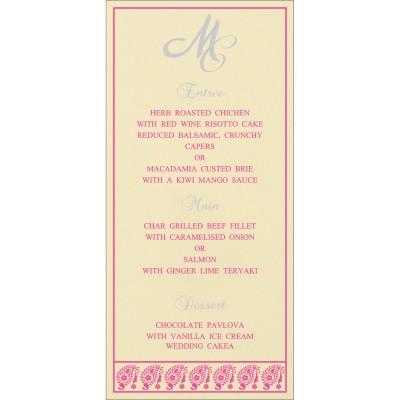 Menu Cards - MENU-8218F