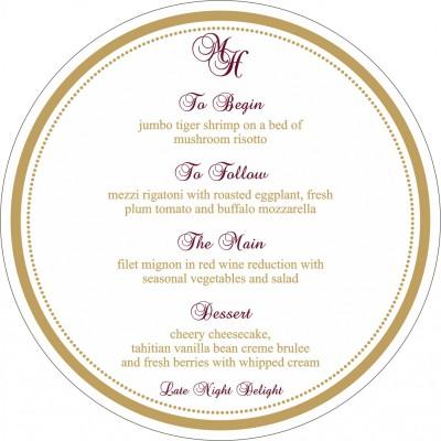 Menu Cards - MENU-8219H