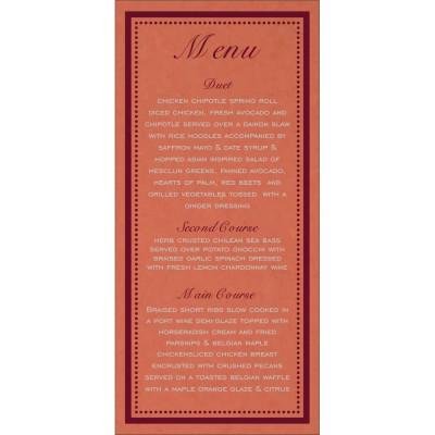 Menu Cards - MENU-8219I
