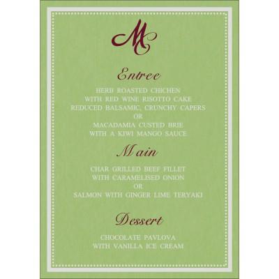 Menu Cards - MENU-8219J