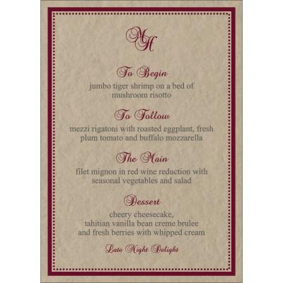 Menu Cards - MENU-8219Q