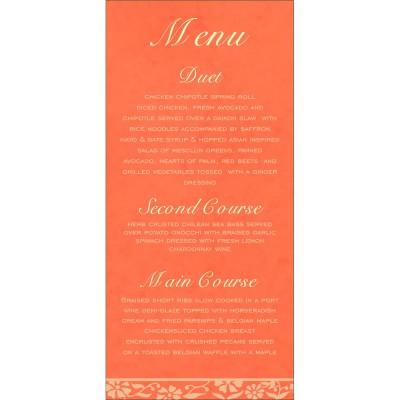 Menu Cards - MENU-8222L