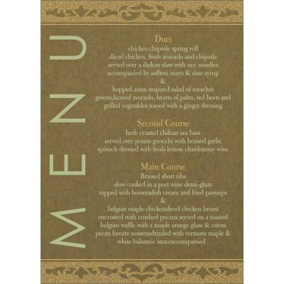 Menu Cards - MENU-8227F