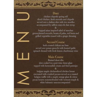 Menu Cards - MENU-8227P