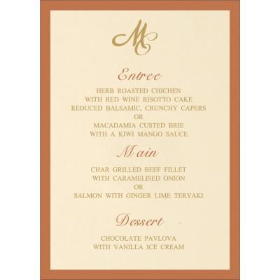 Menu Cards - MENU-8229O
