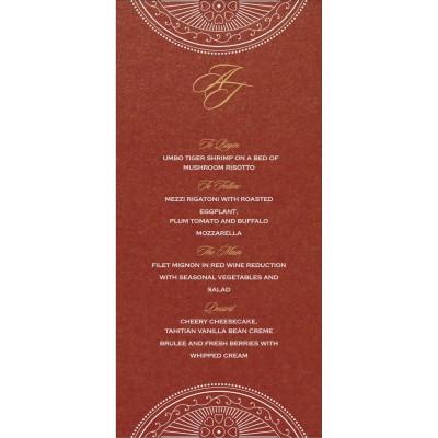 Menu Cards - MENU-8230C