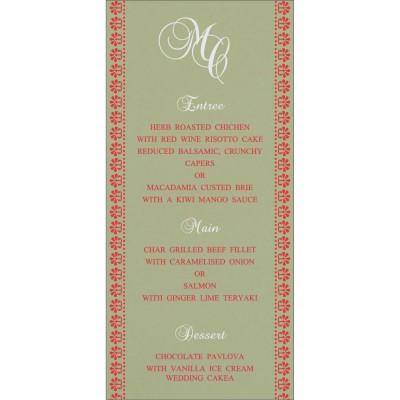 Menu Cards - MENU-8231G