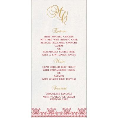 Menu Cards - MENU-8241Q
