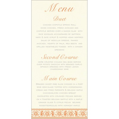 Menu Cards - MENU-8242L