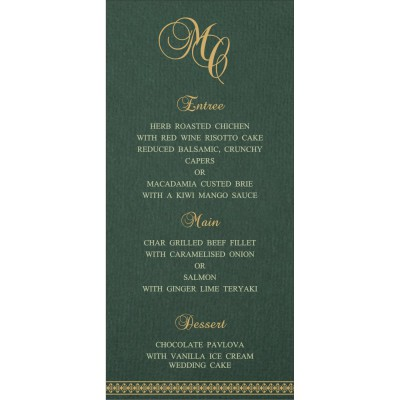 Menu Cards - MENU-8247N