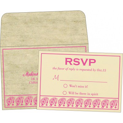 RSVP Cards - RSVP-8218F