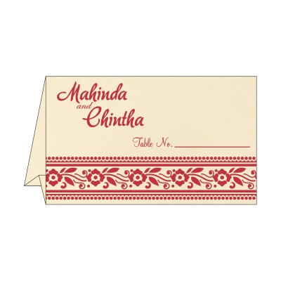 Table Cards - TC-8220O