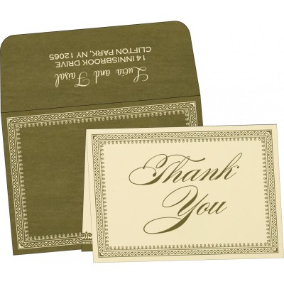 Thank You Cards - TYC-8205G