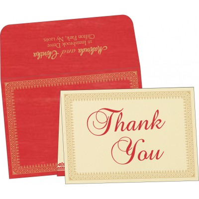 Thank You Cards - TYC-8205R