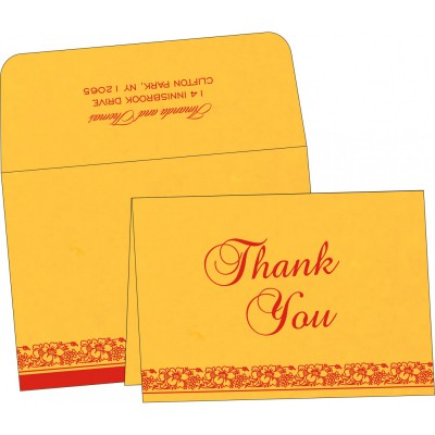 Thank You Cards - TYC-8207O