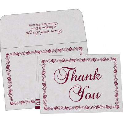 Thank You Cards - TYC-8208I