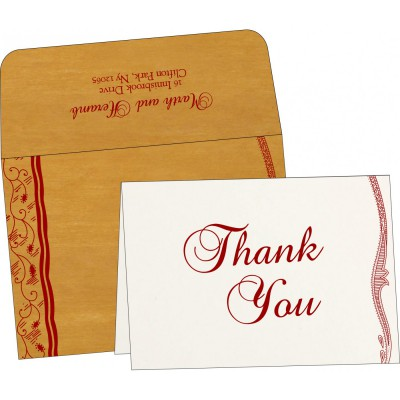 Thank You Cards - TYC-8210O