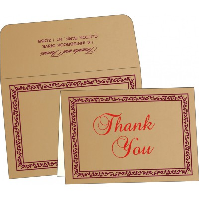 Thank You Cards - TYC-8214C