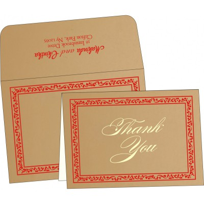 Thank You Cards - TYC-8214F
