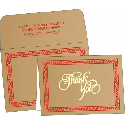 Thank You Cards - TYC-8214G