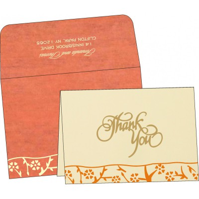 Thank You Cards - TYC-8216G