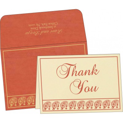 Thank You Cards - TYC-8218E