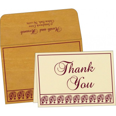 Thank You Cards - TYC-8218N