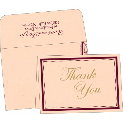 Thank You Cards - TYC-8219D