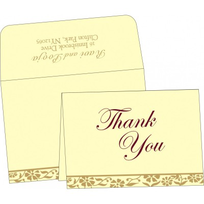 Thank You Cards - TYC-8222F