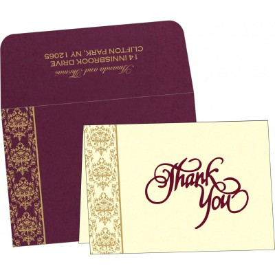 Thank You Cards - TYC-8253F