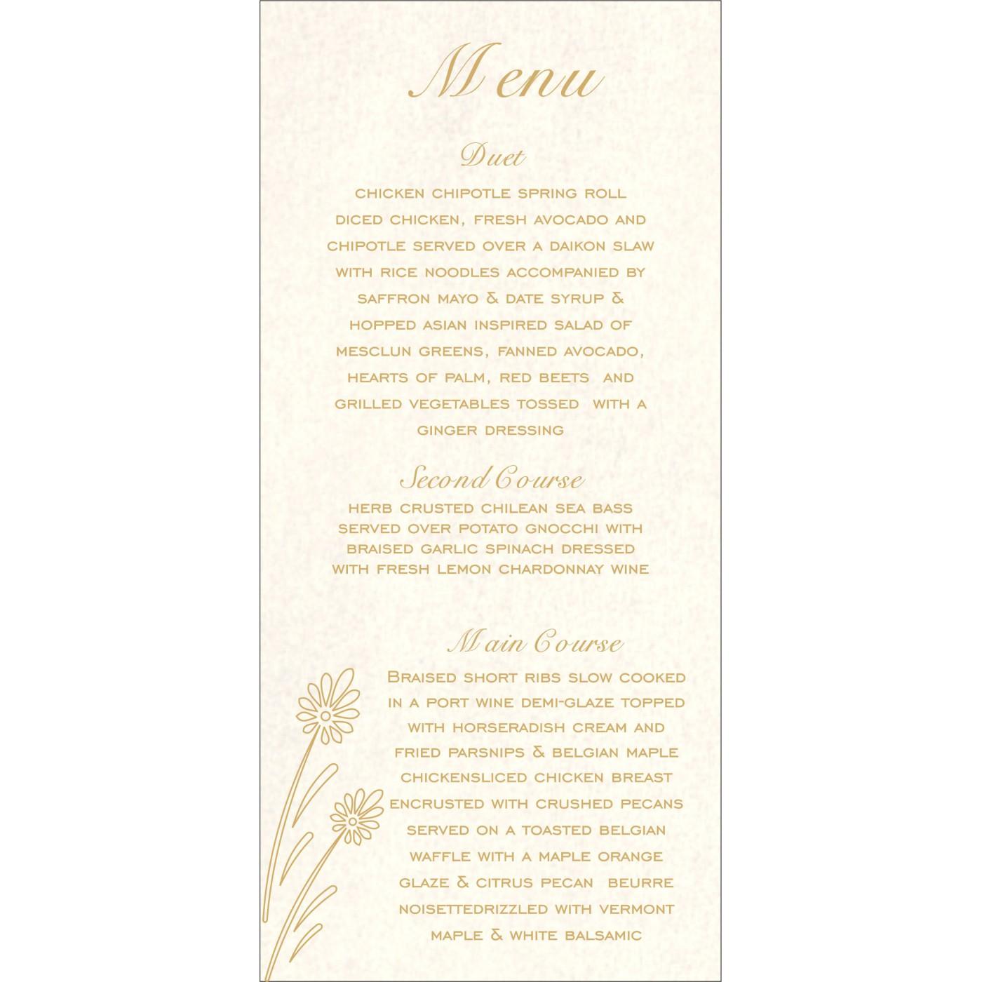 Menu Cards - MENU-1378