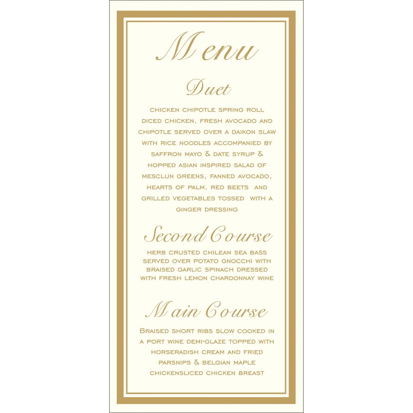 Menu Cards - MENU-2115
