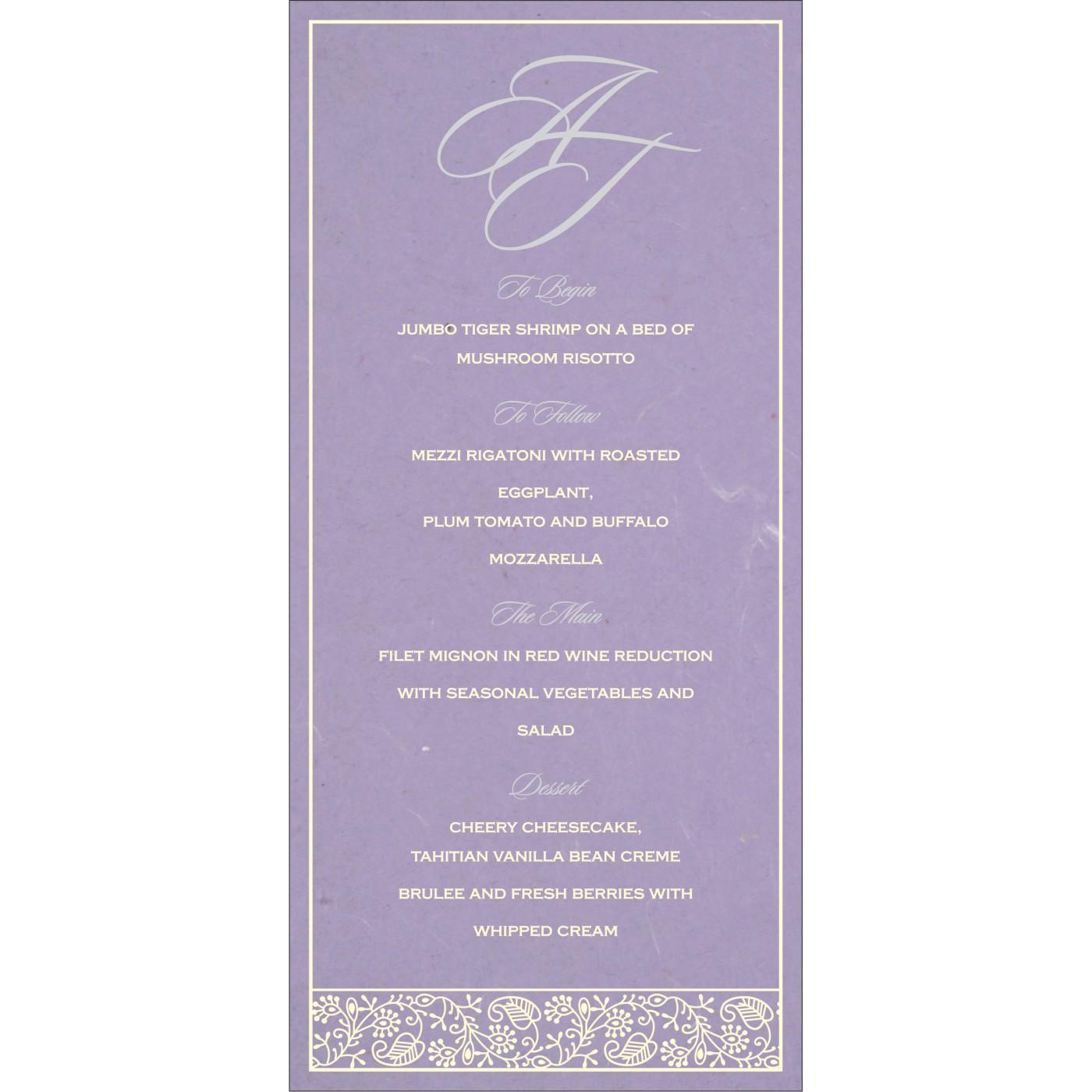 Menu Cards - MENU-8215B