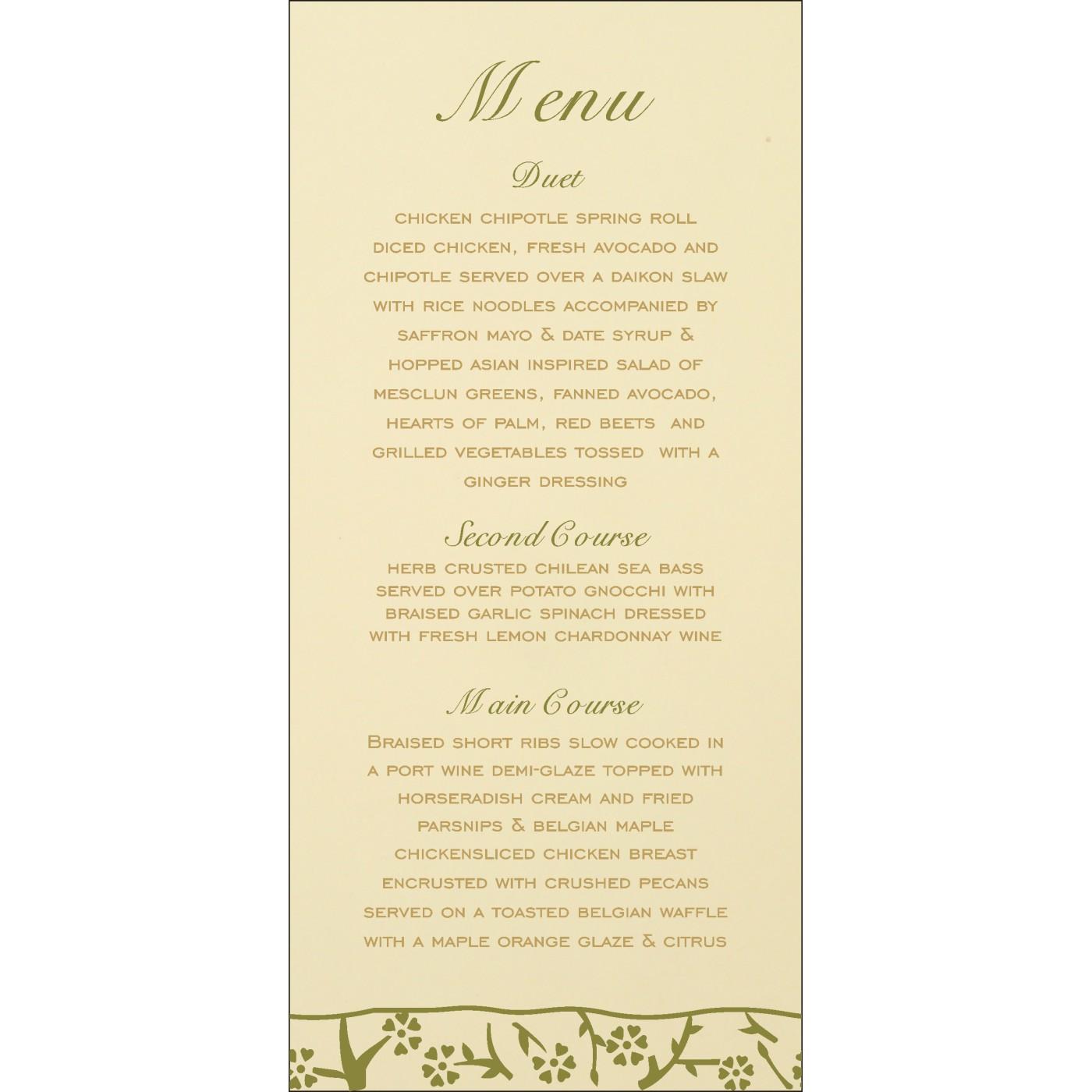 Menu Cards - MENU-8216J