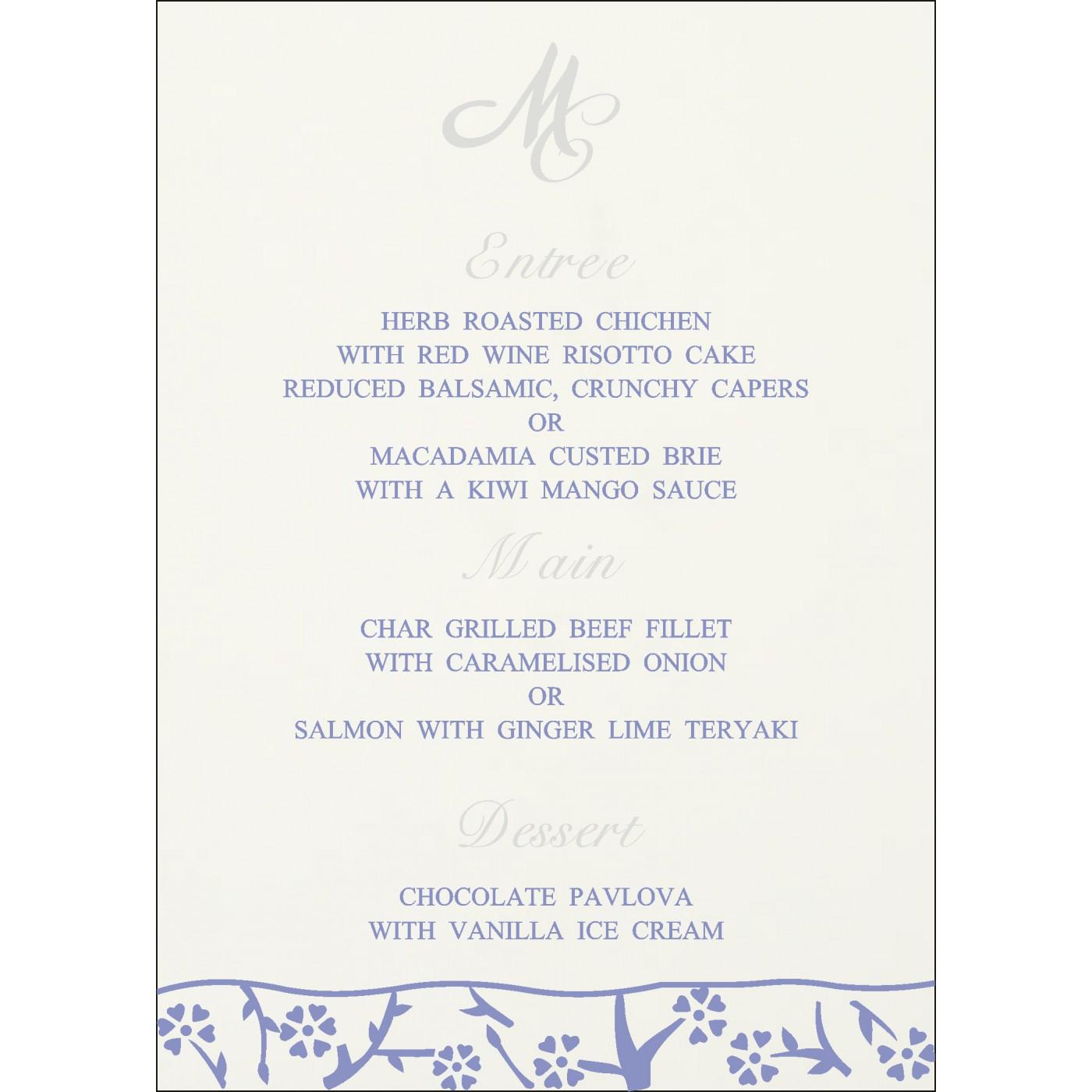 Menu Cards - MENU-8216Q
