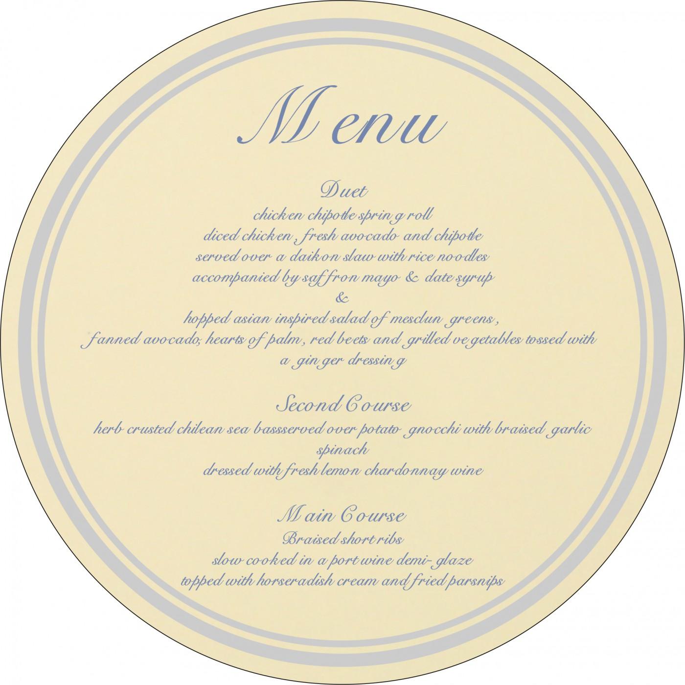 Menu Cards - MENU-8218K