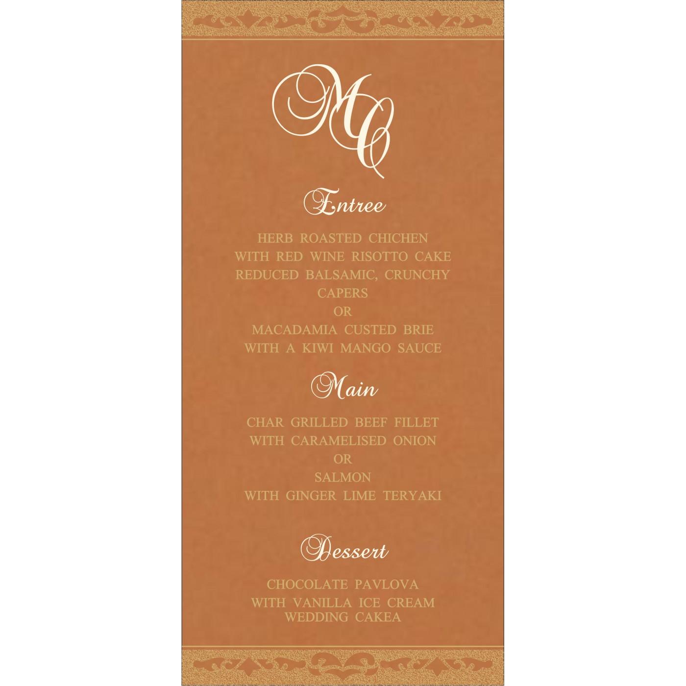 Menu Cards - MENU-8227H