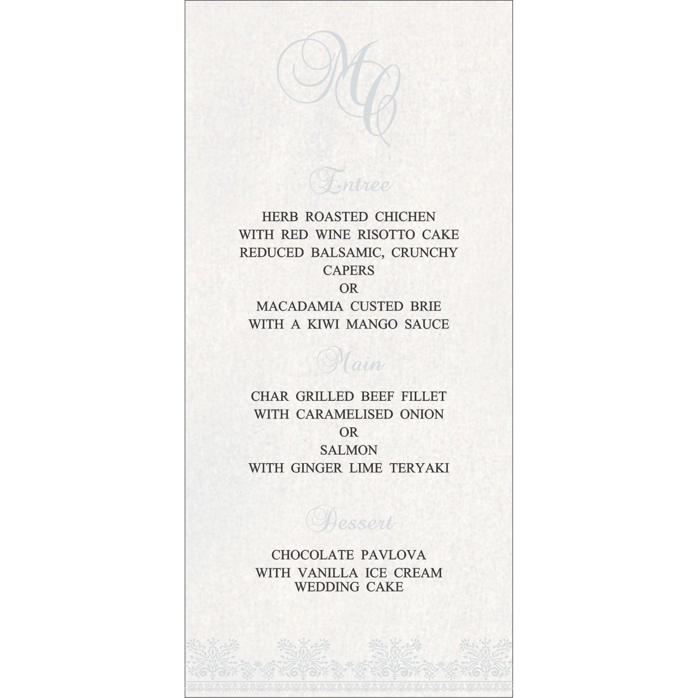 Menu Cards - MENU-8241O