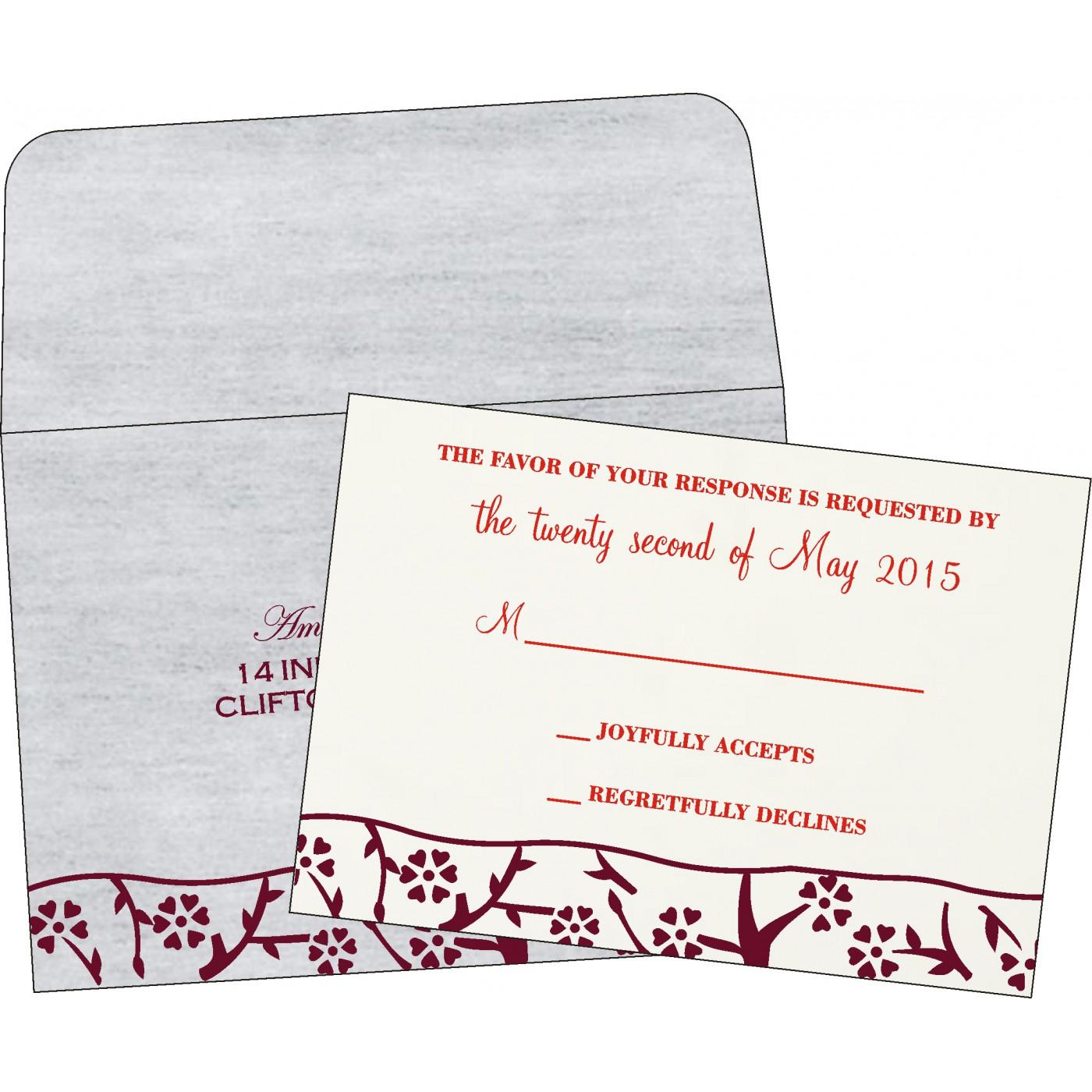 RSVP Cards - RSVP-8216B