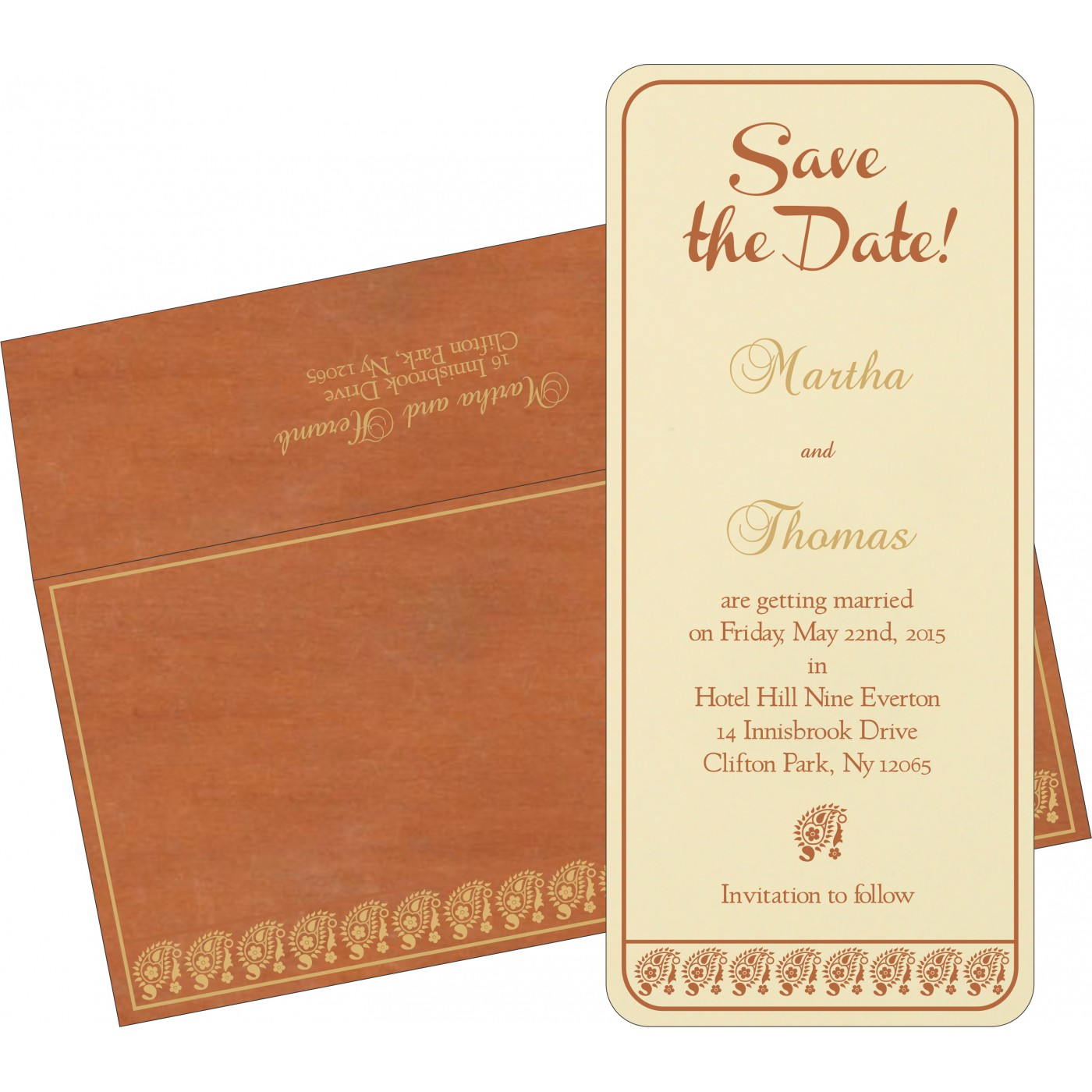 Save The Date - STD-8218C