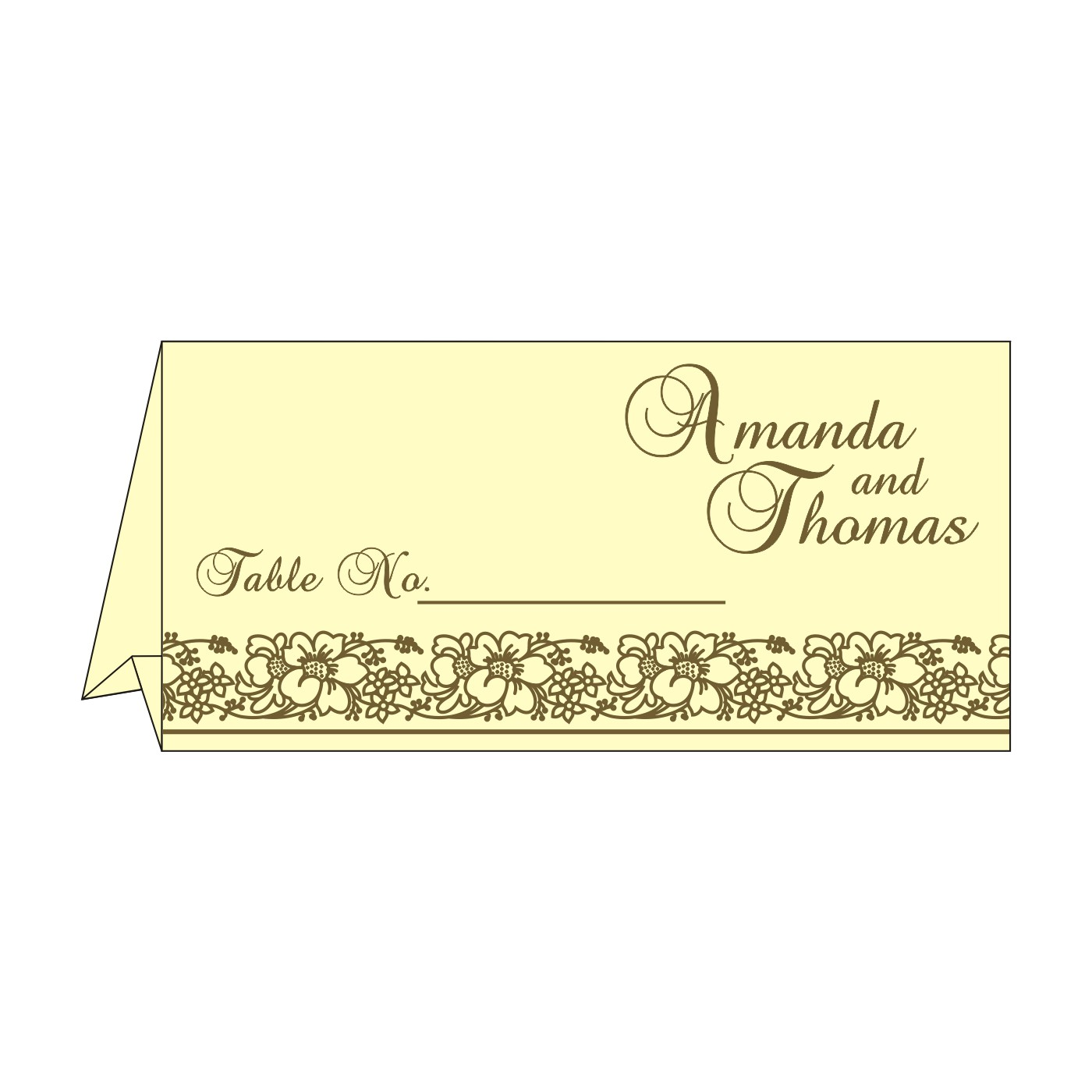 Table Cards - TC-8207H