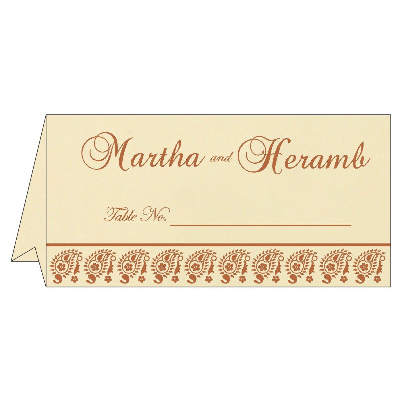 Table Cards - TC-8218C