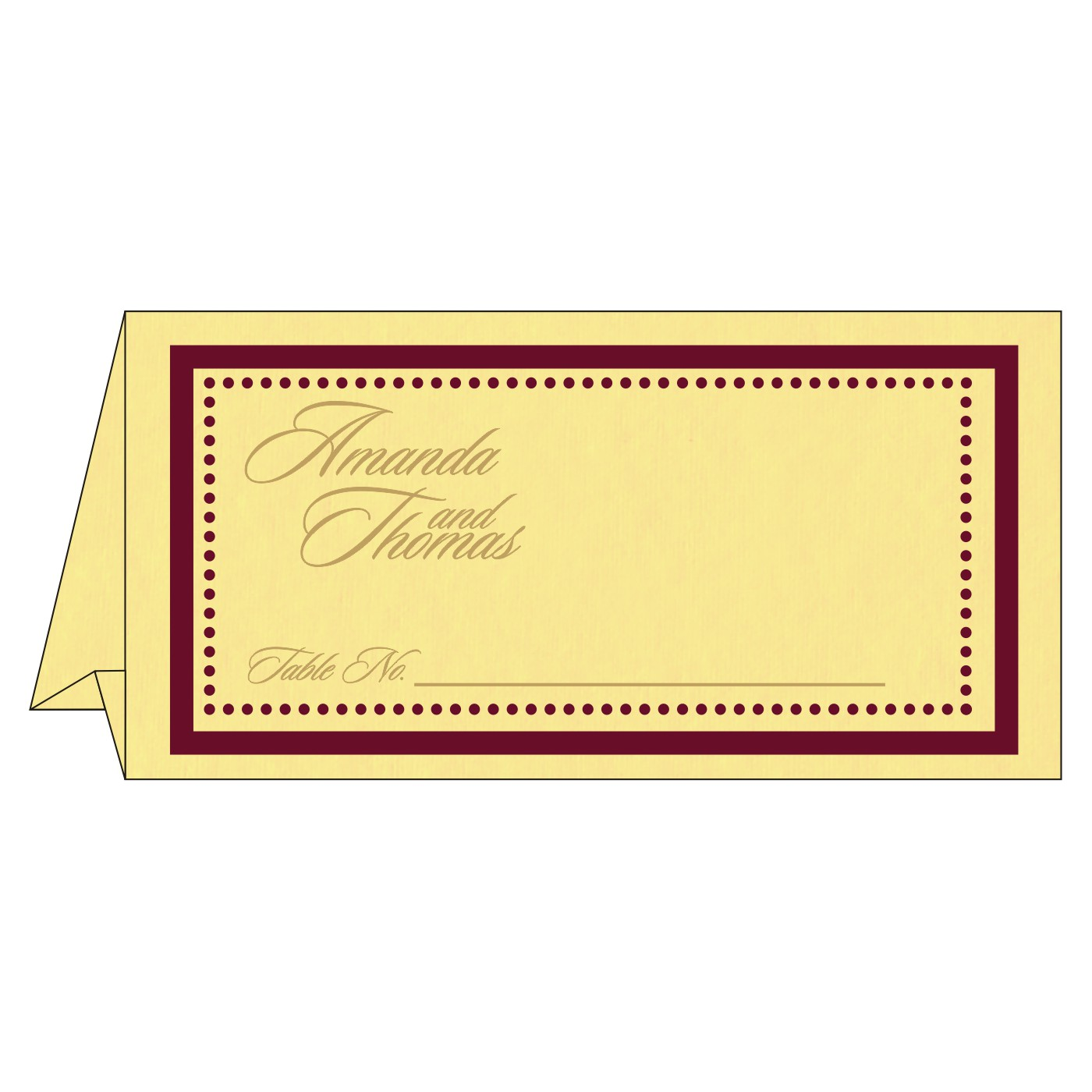 Table Cards - TC-8219G