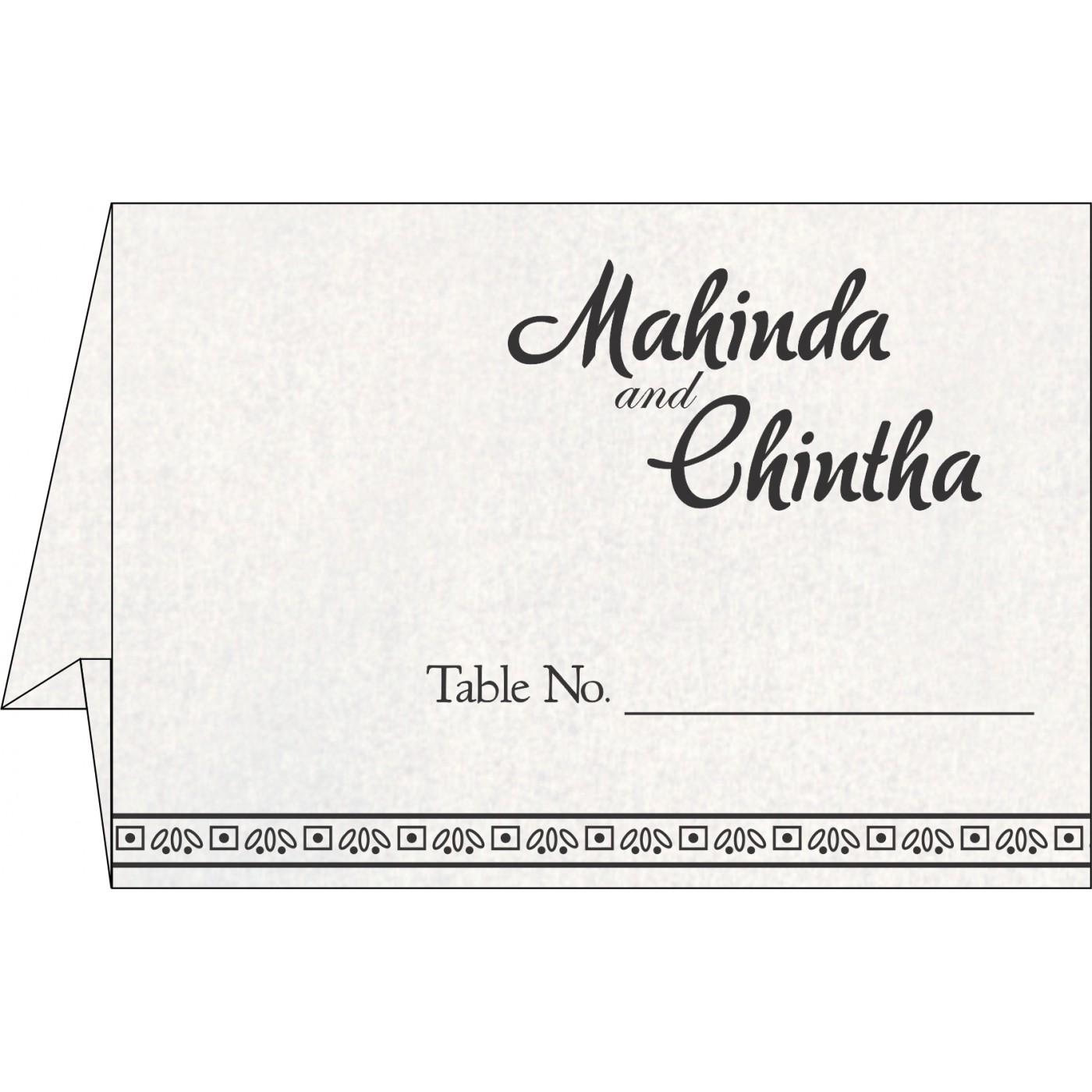 Table Cards - TC-8241O