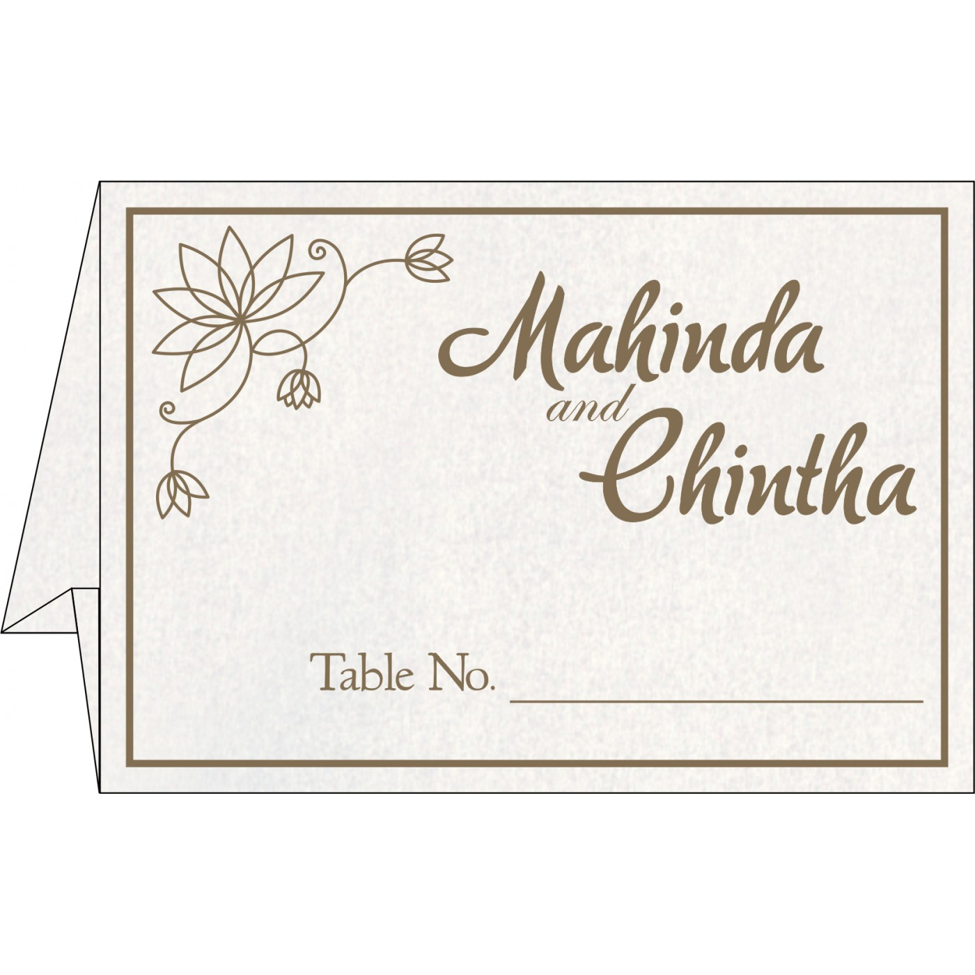 Table Cards - TC-8251F