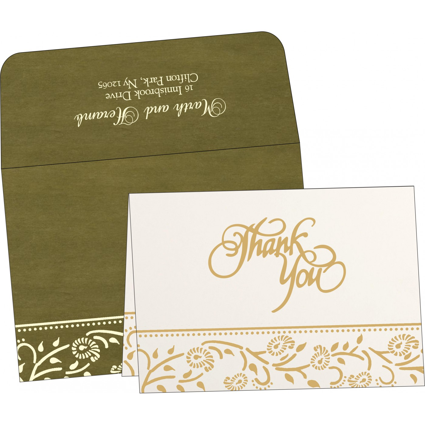 Thank You Cards - TYC-8206D
