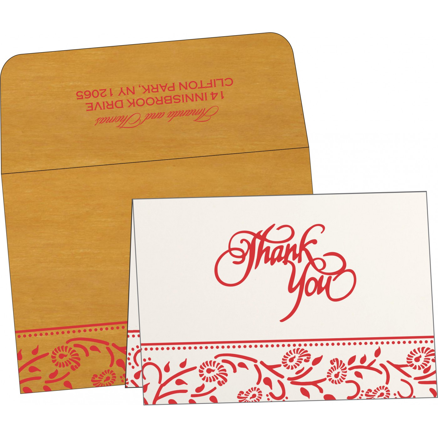 Thank You Cards - TYC-8206H