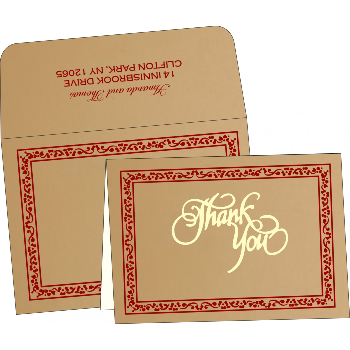 Thank You Cards - TYC-8214A