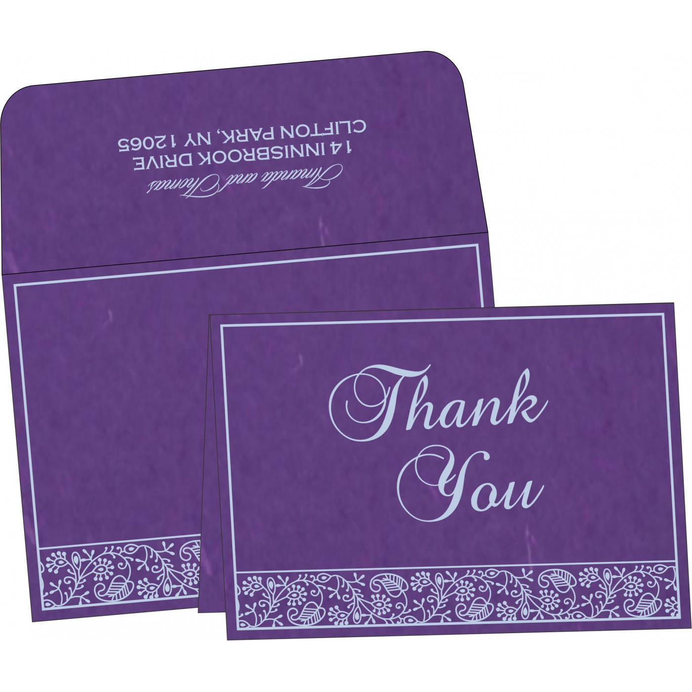 Thank You Cards - TYC-8215G