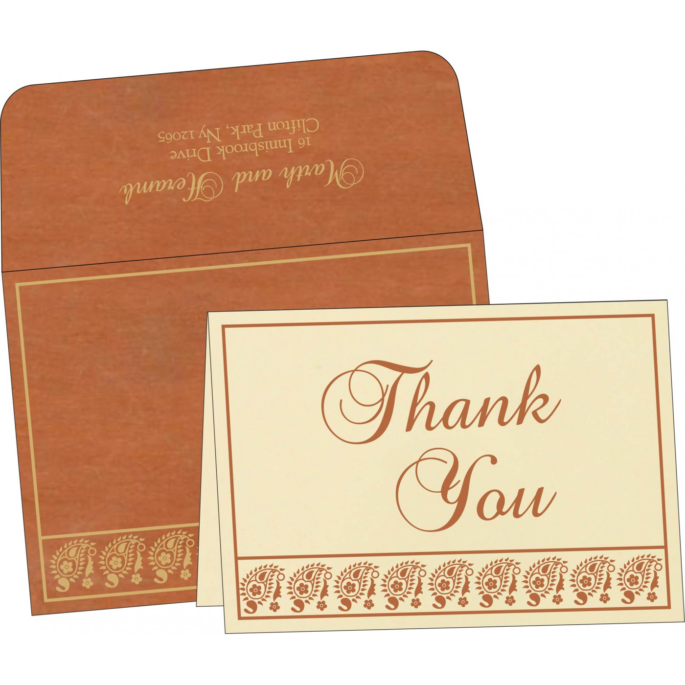 Thank You Cards - TYC-8218C